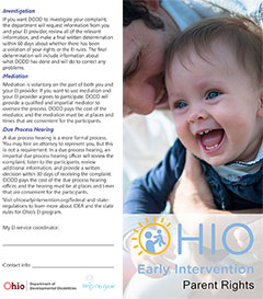Parents Rights in Early Intervention